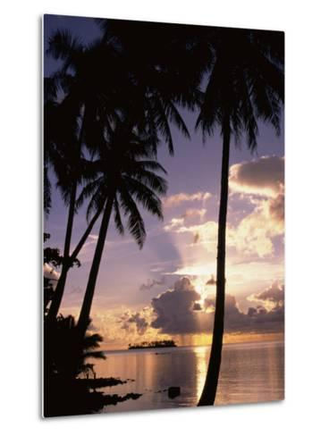 Sunset, Moorea, French Polynesia-Douglas Peebles-Metal Print