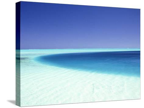 Ocean, Bora Bora, French Polynesia-Douglas Peebles-Stretched Canvas Print