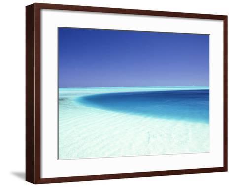 Ocean, Bora Bora, French Polynesia-Douglas Peebles-Framed Art Print
