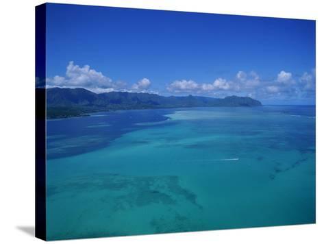 Kaneohe Bay, Kaneohe, Oahu, Hawaii, USA-Douglas Peebles-Stretched Canvas Print
