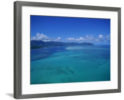 Kaneohe Bay, Kaneohe, Oahu, Hawaii, USA-Douglas Peebles-Framed Art Print