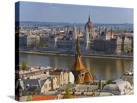 A View of Budapest from Castle Hill, Hungary-Joe Restuccia III-Stretched Canvas Print