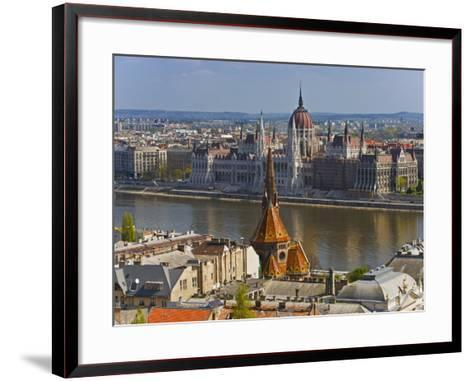 A View of Budapest from Castle Hill, Hungary-Joe Restuccia III-Framed Art Print