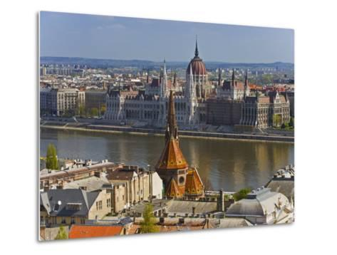 A View of Budapest from Castle Hill, Hungary-Joe Restuccia III-Metal Print