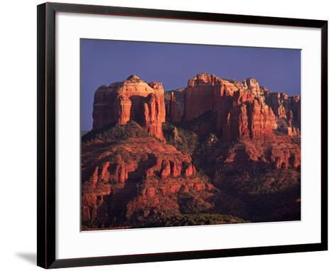 Cathedral Rock at Sunset, Sedona, Arizona, USA-Charles Sleicher-Framed Art Print