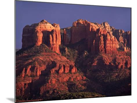 Cathedral Rock at Sunset, Sedona, Arizona, USA-Charles Sleicher-Mounted Photographic Print
