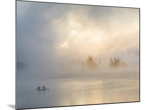 Two Canoers Paddling, Cranberry Lake, Adirondack State Park, New York, USA-Charles Sleicher-Mounted Photographic Print