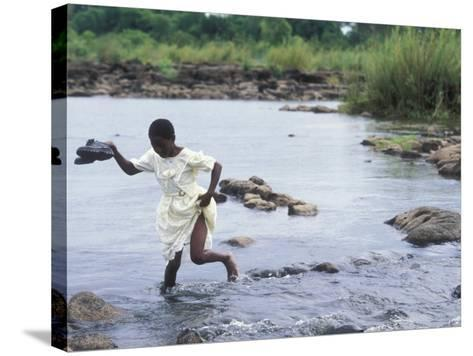 Wading Across Zambezi River, Victoria Falls, Mosi-Oa-Tunya National Park, Zambia-Paul Souders-Stretched Canvas Print