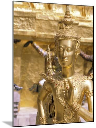 Gold Statue at Wat Phra Kaew Temple, Grand Palace, Bangkok, Thailand-Paul Souders-Mounted Photographic Print