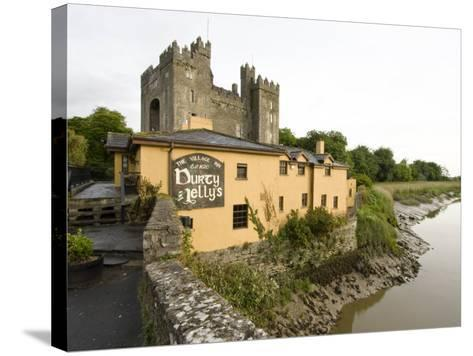 Medieval Castle, County Clare, Ireland-William Sutton-Stretched Canvas Print