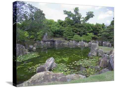Japanese Garden of Nijo Castle, Kyoto, Japan-Shin Terada-Stretched Canvas Print