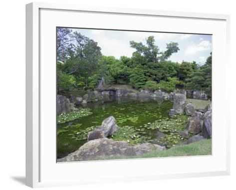 Japanese Garden of Nijo Castle, Kyoto, Japan-Shin Terada-Framed Art Print