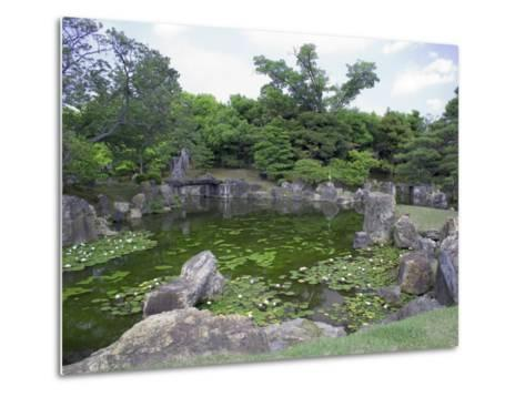 Japanese Garden of Nijo Castle, Kyoto, Japan-Shin Terada-Metal Print
