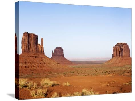 Merrick Butte and The Mittens, Monument Valley Tribal Park, Arizona-Rob Tilley-Stretched Canvas Print