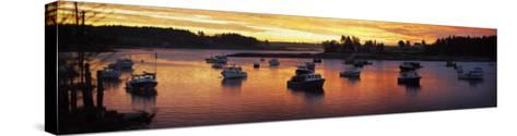 Sunrise on the Fleet-Doug Landreth-Stretched Canvas Print