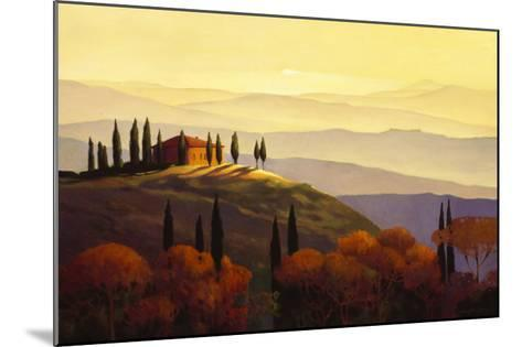 Tuscan Sunrise-Max Hayslette-Mounted Premium Giclee Print