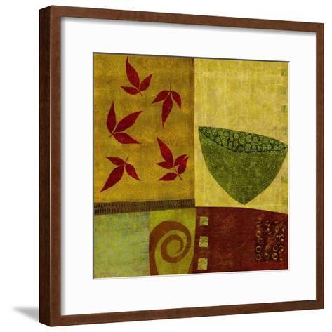 Green Bowl with Nandina Leaves-Doris Mosler-Framed Art Print
