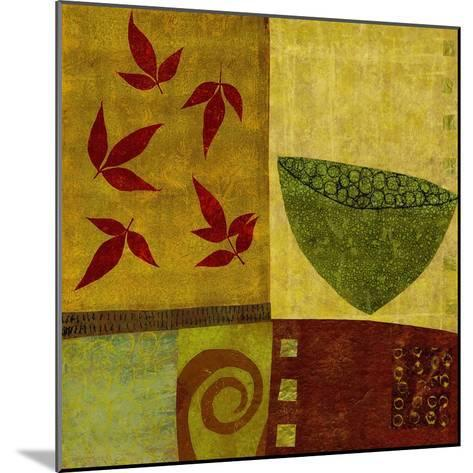 Green Bowl with Nandina Leaves-Doris Mosler-Mounted Premium Giclee Print