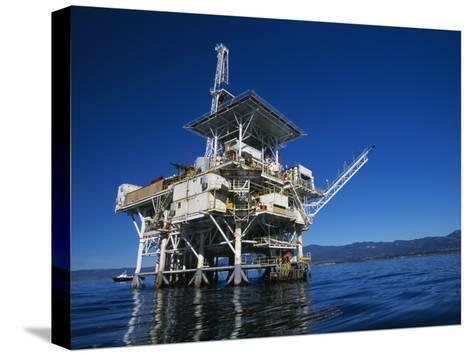 Offshore Oil and Gas Rig in the Pacific Ocean-James Forte-Stretched Canvas Print