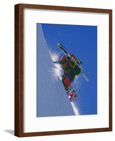 Ski Mountaineer Scales Mount Berry-Gordon Wiltsie-Framed Art Print