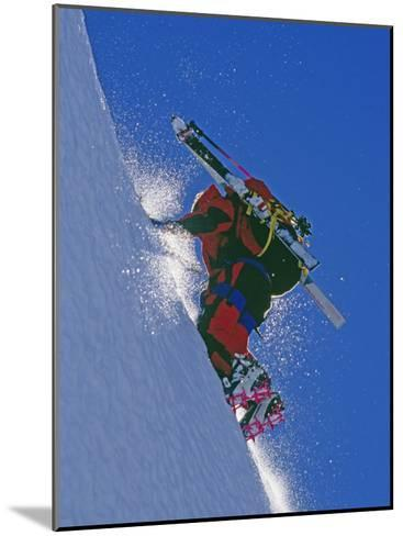 Ski Mountaineer Scales Mount Berry-Gordon Wiltsie-Mounted Photographic Print