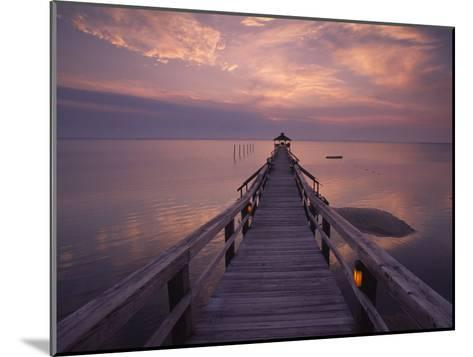 Gazebo at the End of a Pier Overlooking the Atlantic Ocean-Michael Melford-Mounted Photographic Print
