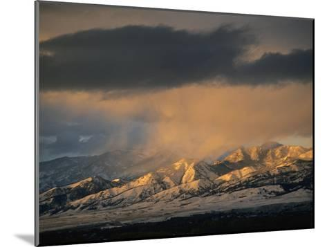 Stormy Sunset on Bridger Mountains Above Bozeman and Gallatin Valley-Gordon Wiltsie-Mounted Photographic Print