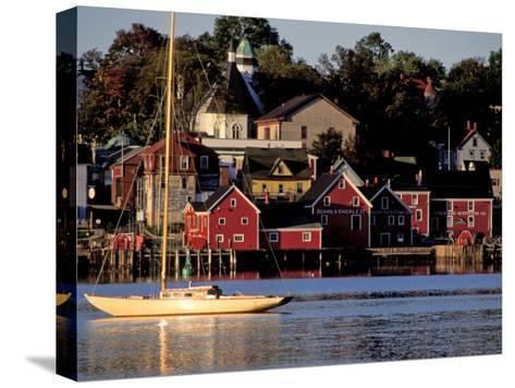 Lunenburg Harbor, an Old German Fishing Village in Nova Scotia-Richard Nowitz-Stretched Canvas Print