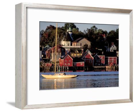 Lunenburg Harbor, an Old German Fishing Village in Nova Scotia-Richard Nowitz-Framed Art Print