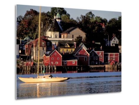 Lunenburg Harbor, an Old German Fishing Village in Nova Scotia-Richard Nowitz-Metal Print