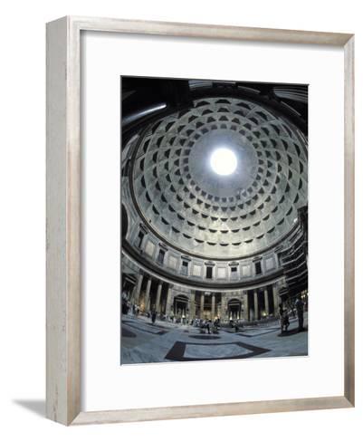 Interior of the Pantheon, the Oldest Domed Building-Richard Nowitz-Framed Art Print