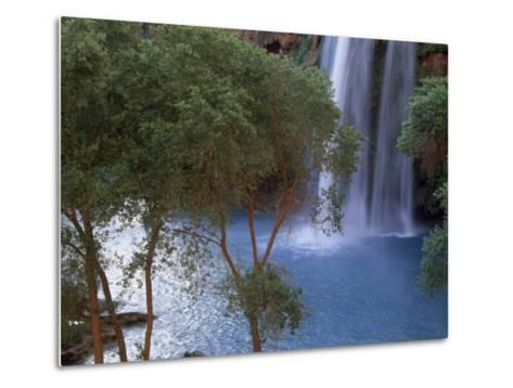 Havasu Falls Behind a Grove of Trees-Bill Hatcher-Metal Print