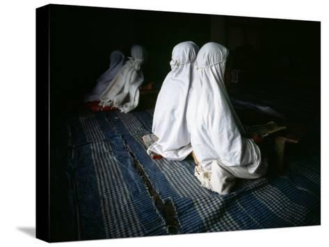 Young Muslim Girls Covered Head to Toe in Traditional Muslim Clothing-xPacifica-Stretched Canvas Print