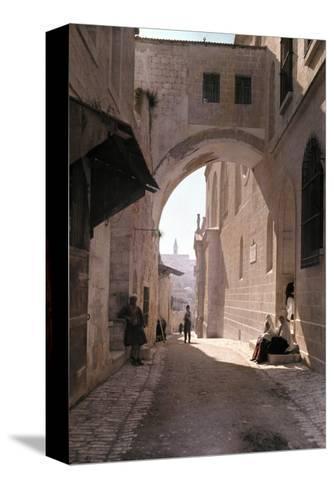 Ecce Homo Arch, a Sacred Religous Landmark, Located in Jerusalem-Hans Hildenbrand-Stretched Canvas Print