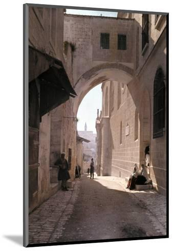 Ecce Homo Arch, a Sacred Religous Landmark, Located in Jerusalem-Hans Hildenbrand-Mounted Photographic Print