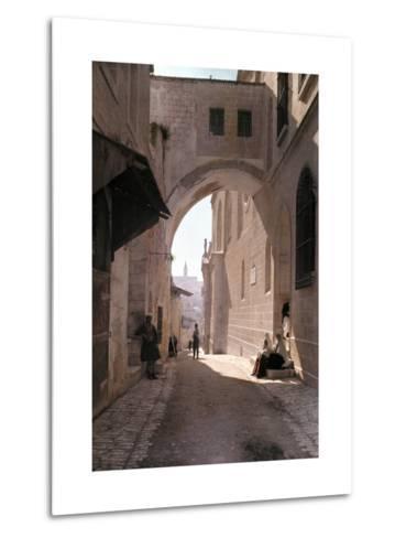 Ecce Homo Arch, a Sacred Religous Landmark, Located in Jerusalem-Hans Hildenbrand-Metal Print