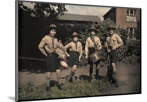 Portrait of Boy Scouts at Abinger Hammer on a Sunday Hike-Clifton R^ Adams-Mounted Photographic Print