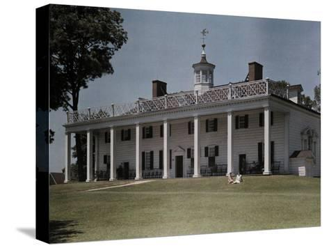 Great Piazza on the Mount Vernon Estate Faces the Potomac River-Clifton R^ Adams-Stretched Canvas Print