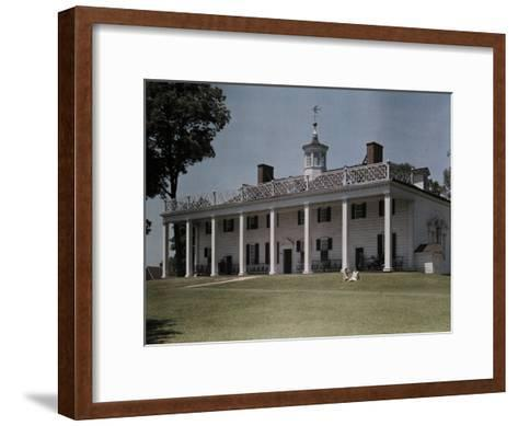 Great Piazza on the Mount Vernon Estate Faces the Potomac River-Clifton R^ Adams-Framed Art Print
