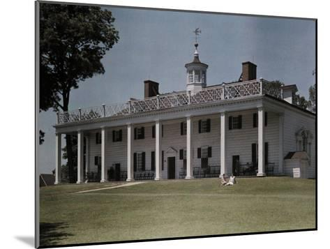 Great Piazza on the Mount Vernon Estate Faces the Potomac River-Clifton R^ Adams-Mounted Photographic Print