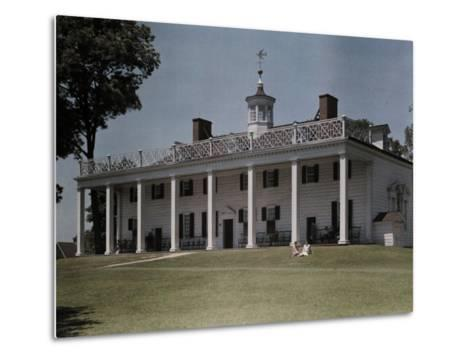Great Piazza on the Mount Vernon Estate Faces the Potomac River-Clifton R^ Adams-Metal Print