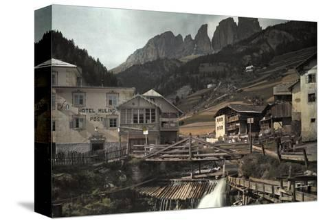 View of the Dolomites Mountains from Campitello-Hans Hildenbrand-Stretched Canvas Print