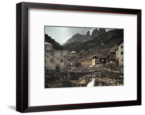 View of the Dolomites Mountains from Campitello-Hans Hildenbrand-Framed Art Print
