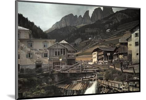 View of the Dolomites Mountains from Campitello-Hans Hildenbrand-Mounted Photographic Print