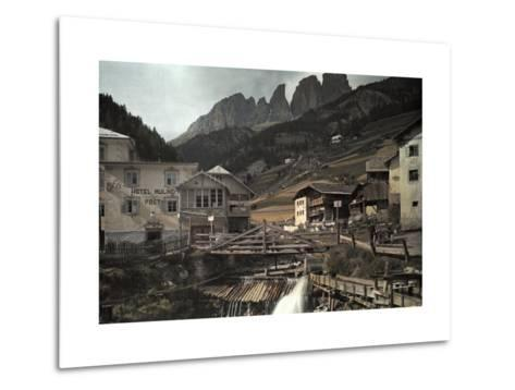 View of the Dolomites Mountains from Campitello-Hans Hildenbrand-Metal Print