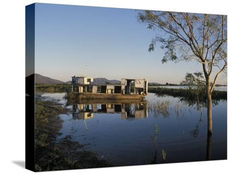Abandoned Houseboat in the Pantanal of Western Brazil-Scott Warren-Stretched Canvas Print