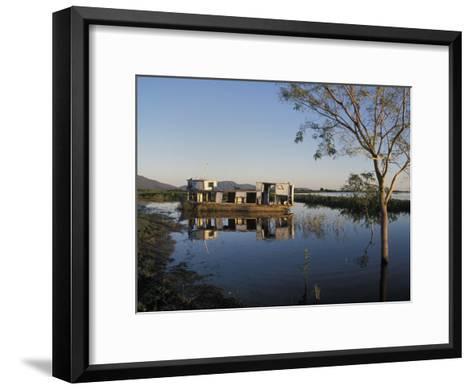 Abandoned Houseboat in the Pantanal of Western Brazil-Scott Warren-Framed Art Print