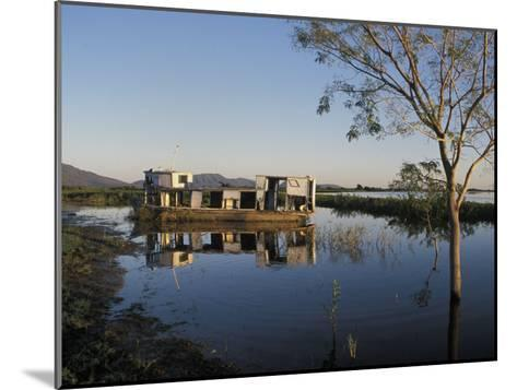 Abandoned Houseboat in the Pantanal of Western Brazil-Scott Warren-Mounted Photographic Print