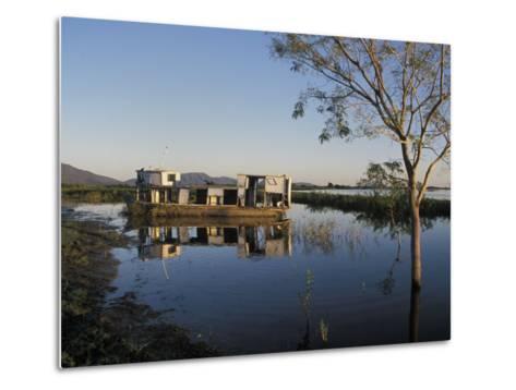 Abandoned Houseboat in the Pantanal of Western Brazil-Scott Warren-Metal Print