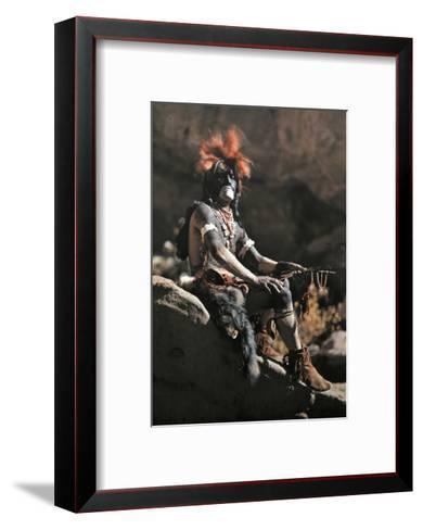 Portrait of Hopi Snake Clan Priest Adorned in Paint and Ornaments-Franklin Price Knott-Framed Art Print